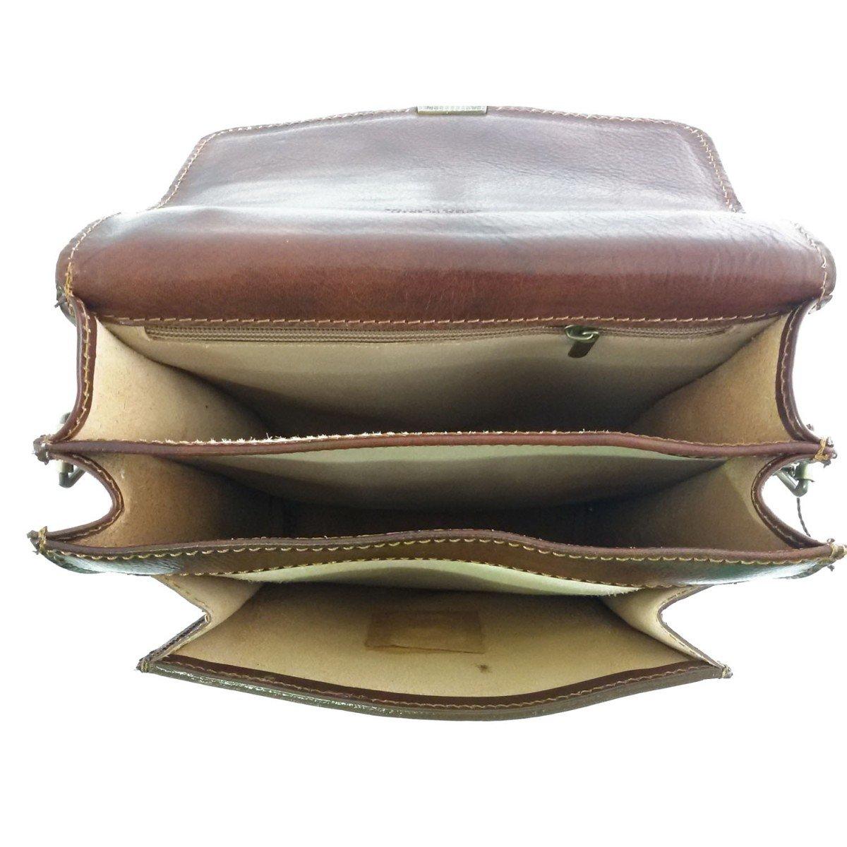 Man Genuine Leather Bag Color Brown