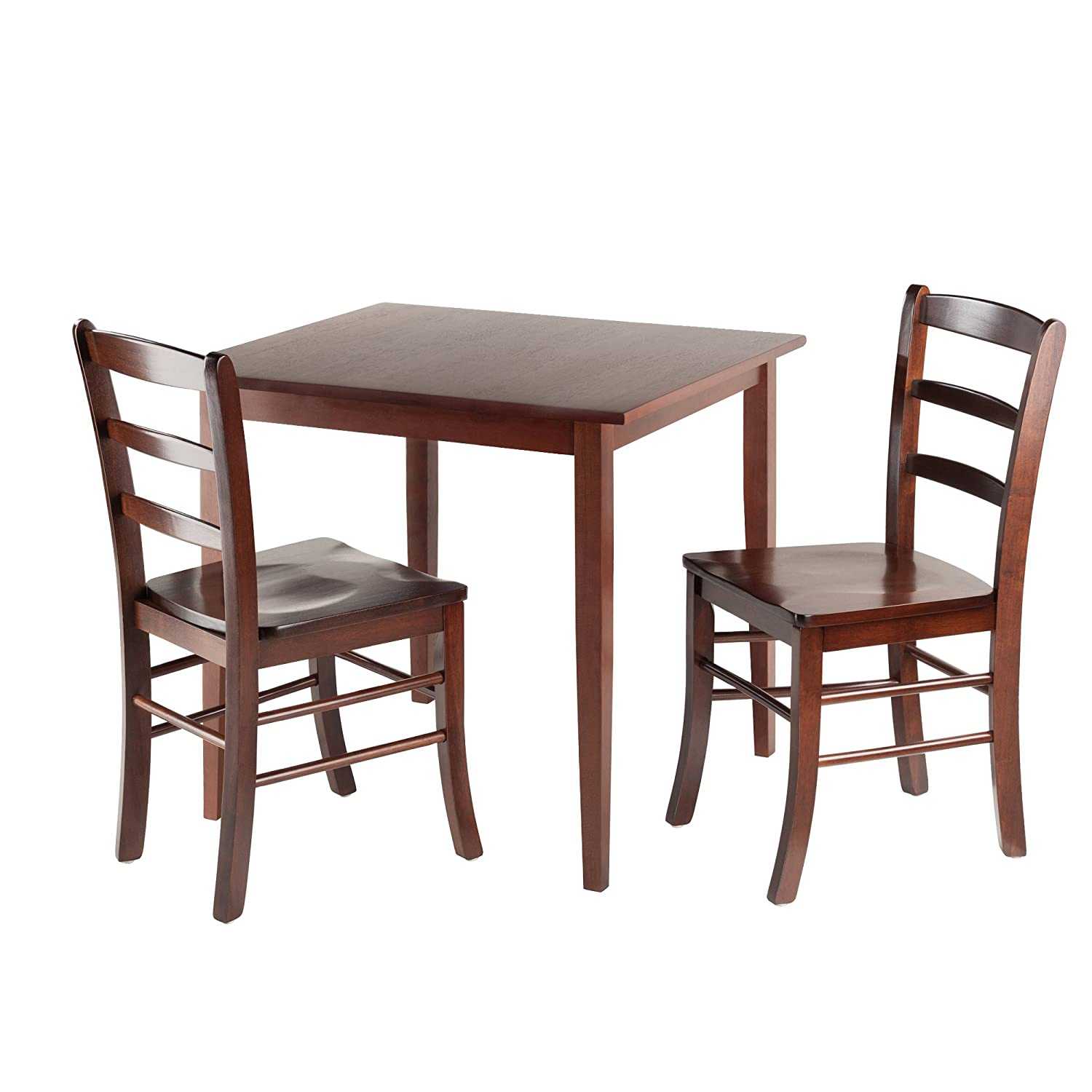 Dinning Tables Set Part - 47: Amazon.com - Winsome Groveland 3-Piece Wood Dining Set, Light Oak Finish -  Chairs