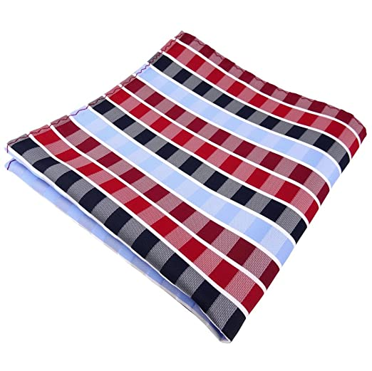 Designer Seidenfliege Einstecktuch Seide rot verkehrsrot blau royal gestreift
