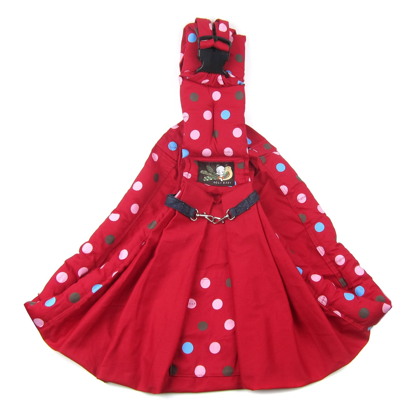 Alfie Pet by Petoga Couture - Hollis Pet Sling Carrier with Adjustable Strap - Color: Red by Alfie (Image #3)