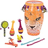 B. Jungle Jam Toy Drum Set (includes 9 Percussion Instruments for Kids)