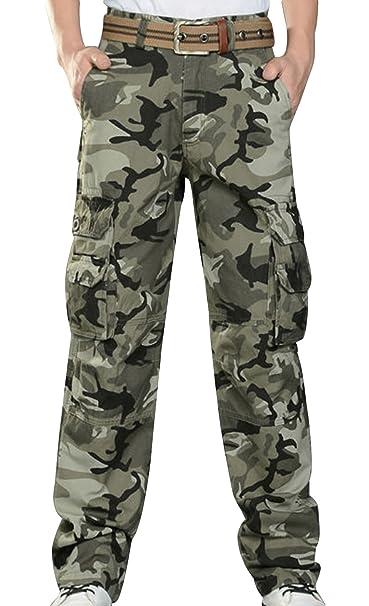 Chalmart Fashion muelle de recambio para corte recto para hombre de maletero correa de distribución trapezoidal en camuflaje larga con estampado de los ...