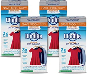 Woolite At Home Dry Cleaner, Fragrance Free, 4 Pack, 24 Cloths