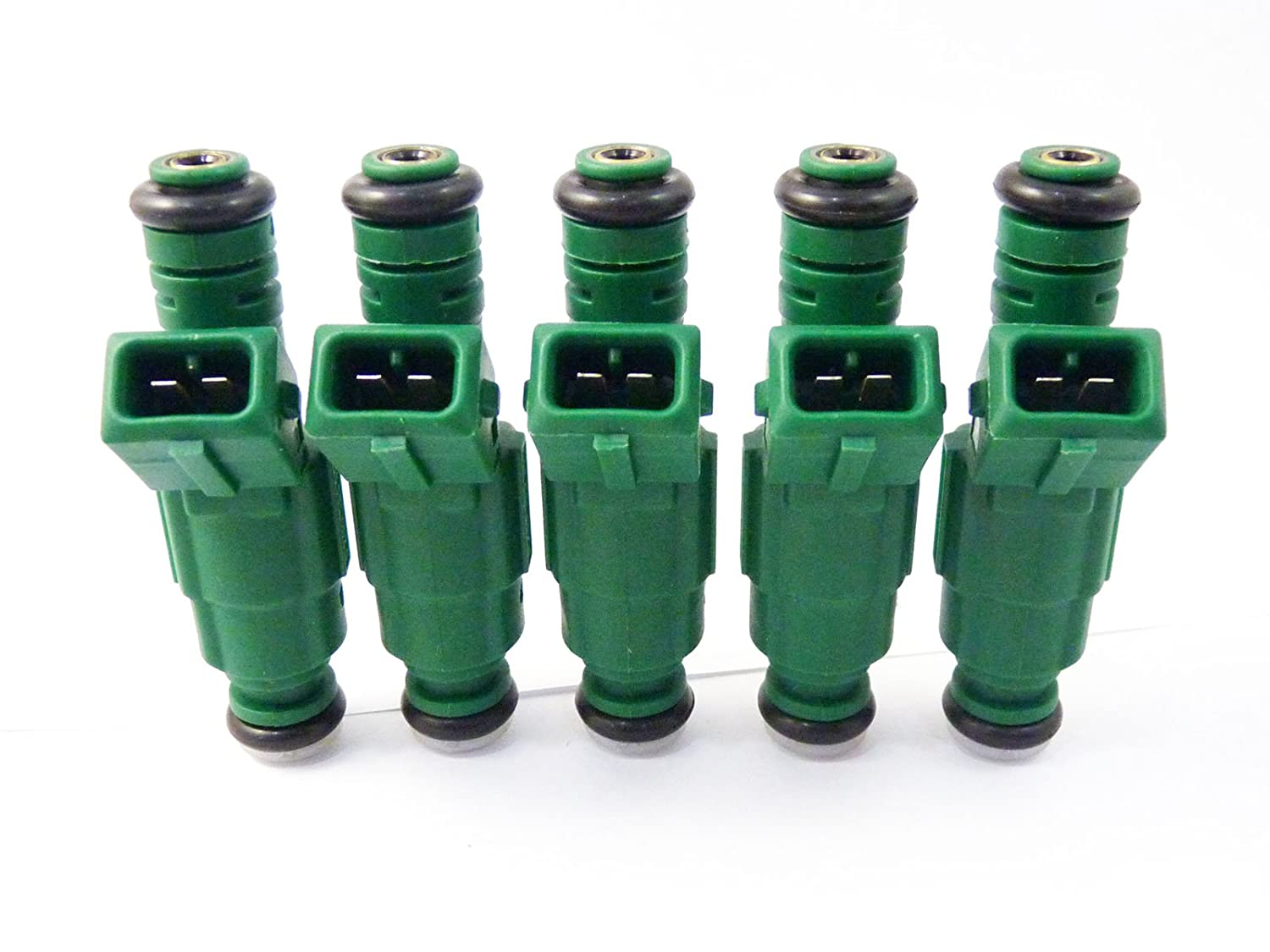 5 PCS Green Giant Fuel Injector 0280155968 Fit For Focus 2000 2001 2002 2003 2004 2005 2006 2007 2008 2009 2010 2011 2012 2013 NEW Rejog4 Auto