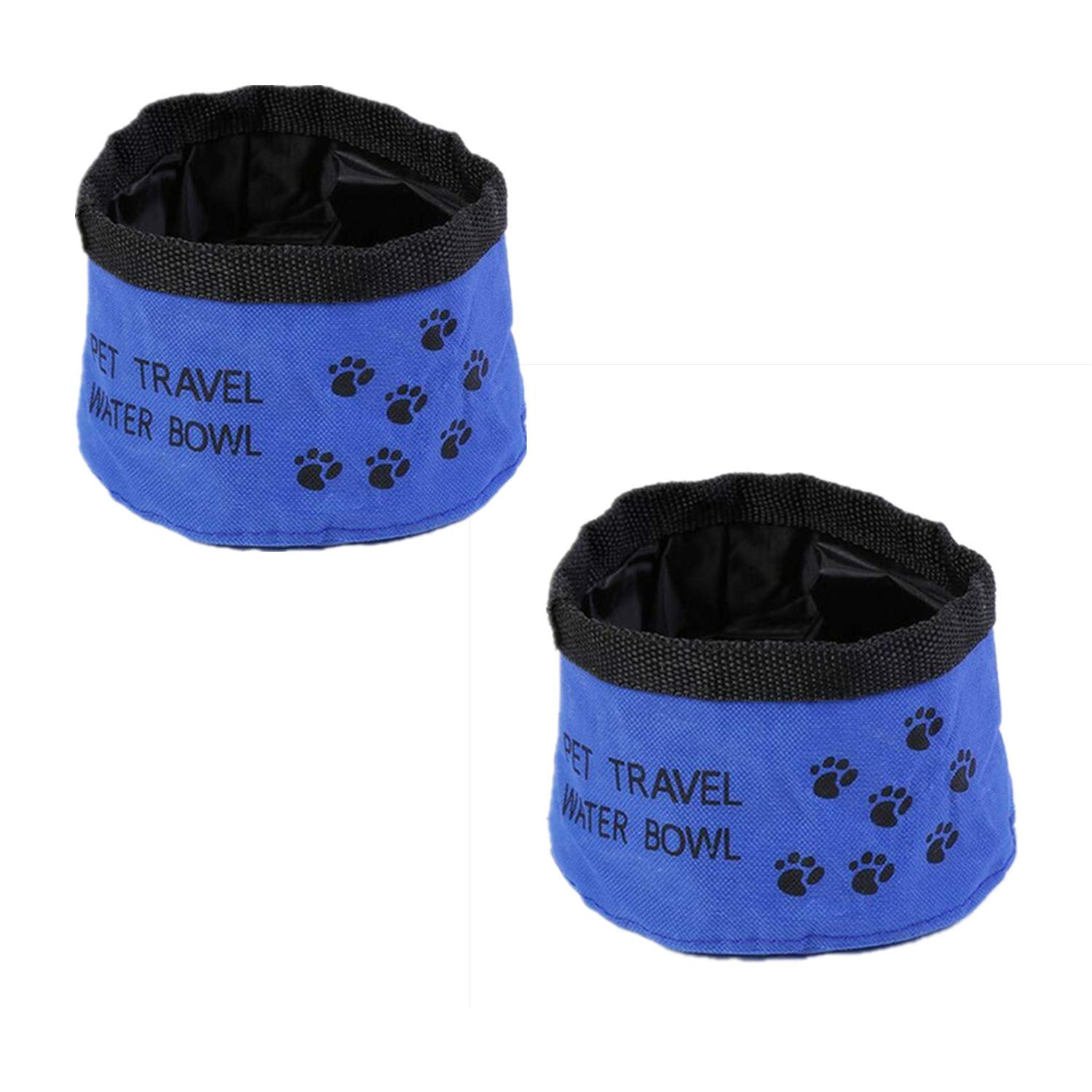ReachTop Collapsible Dog Bowl, Travel Pet Bowl Portable Dog Cat Travel Bowls for Food and Water, Waterproof, Non-toxic, Pack of 2