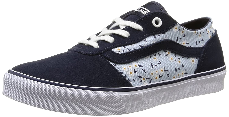 Vans Milton Damen Skateboardschuhe  36.5 EU|Blau (Floral/Blue)