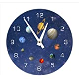 Amazon.com: The Solar System Wall Clock, Kids Bedroom Wall Clock ...