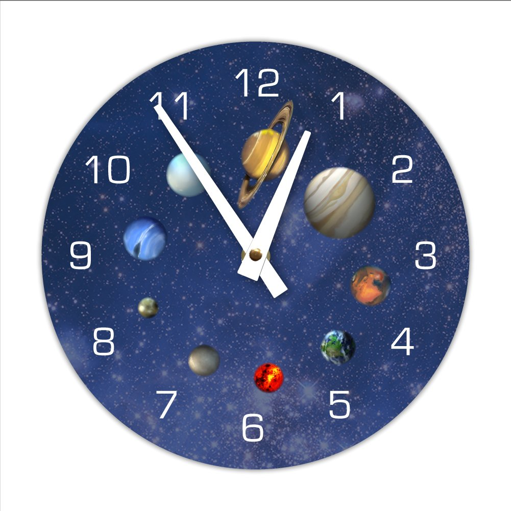 Decorative Outerspace Solar System Wall Clock