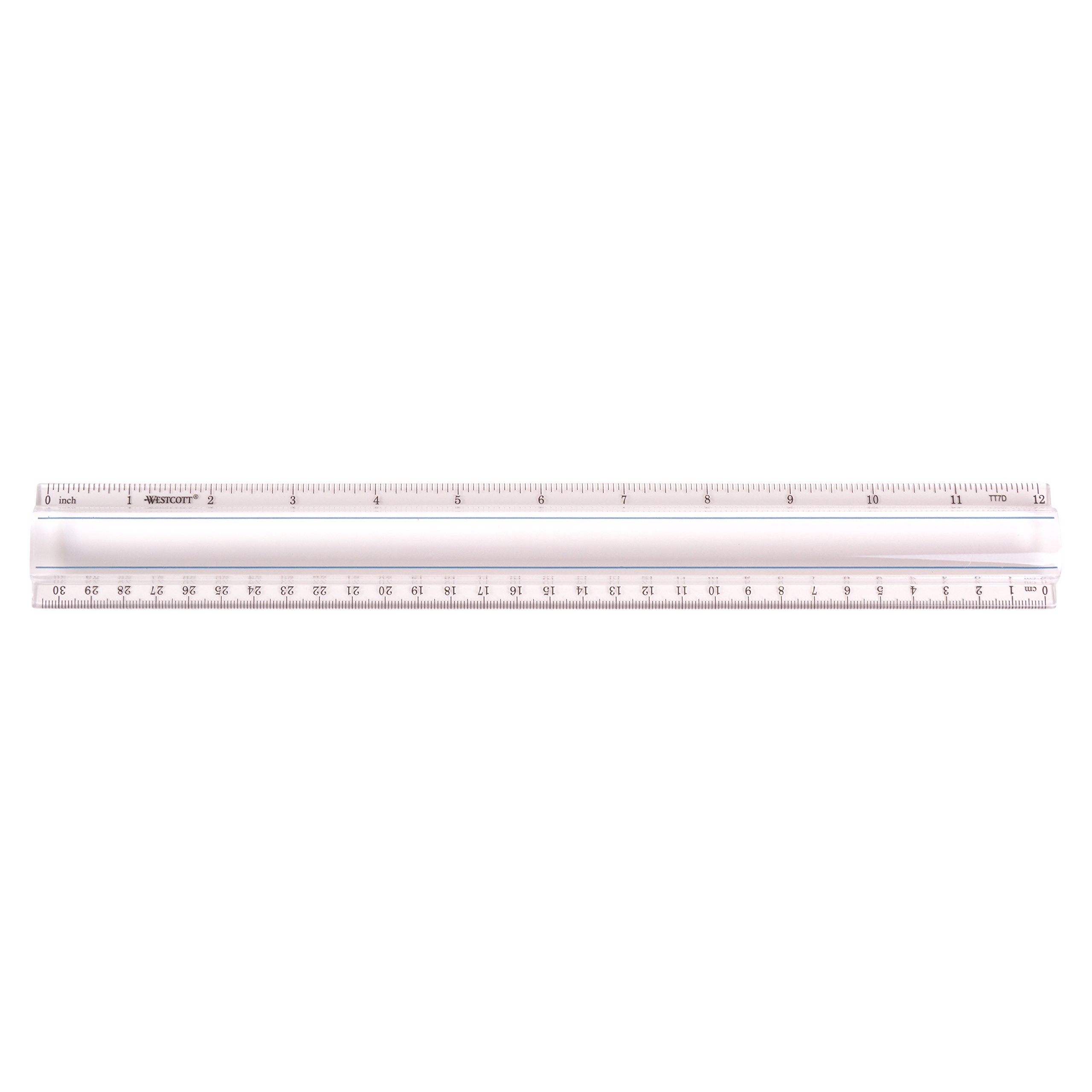 Westcott Clear 12'' Data Processing Magnifying Ruler , Case Of 72 (500-15571)