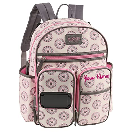 Amazon personalized disney minnie mouse mandala print multi personalized disney minnie mouse mandala print multi pocket functional baby backpack book bag diaper bag negle Images