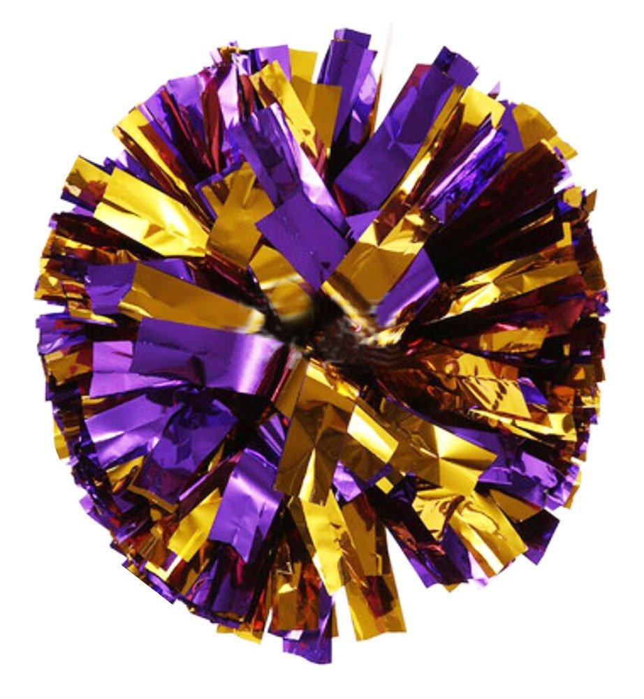 Black Temptation 2 ST/ÜCKE Cheerleading Pom Poms Spiel Pom Kunststoff Ring Hand Blumen Cheerleader Pom Poms f/ür Sport Prost Ball Dance Kost/üm Nacht Party