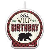 Amscan International 172150 Holders, Candle Birthday Little Lumberjack Bd