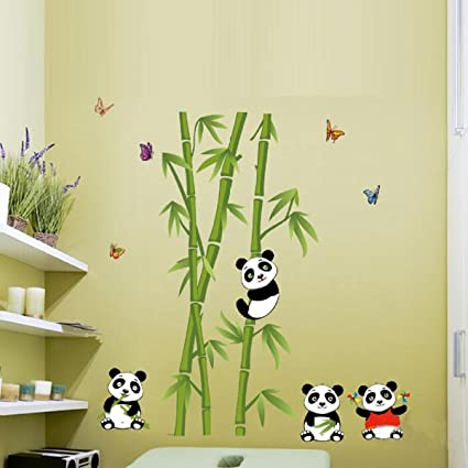 Amazon.com: Home Decoration Cartoon Panda Bear Bamboos JYP DIY ...