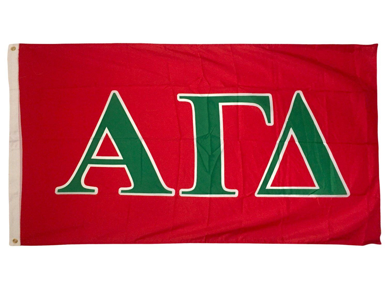Alpha Gamma Delta Letter Sorority Flag Greek Letter Use as a Banner Large 3 x 5 Feet Sign Decor Alpha Gam by Desert Cactus