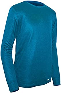product image for Polarmax Double Base Layer Crew Shirt, Polar Blue, X-Small