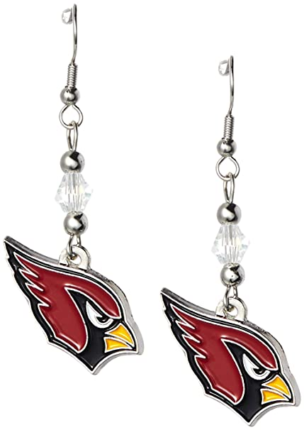 0549514a8266 Amazon.com   NFL Arizona Cardinals Crystal Dangle Earrings   Sports ...