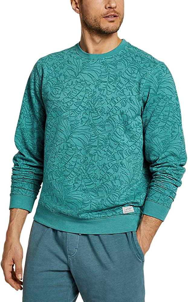 Print Eddie Bauer Mens Camp Fleece Crew Sweatshirt
