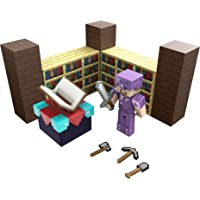 Minecraft Enchanting Room with 3.25-in Steve Figure & Accessories, Storytelling Adventure Play Set, Complete Play in a…