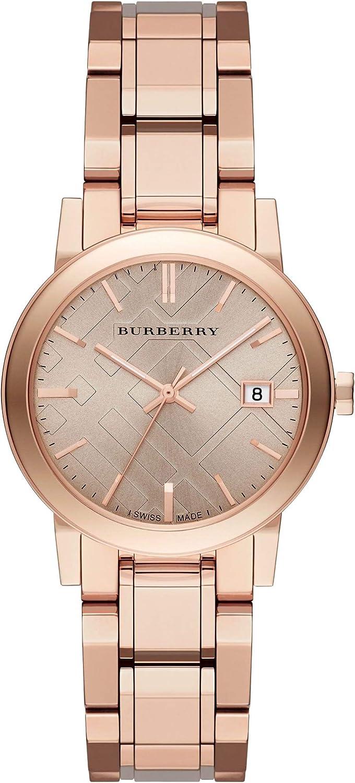 Swiss Rare Rose Gold Date Dial 34mm Women Wrist Watch The City BU9135