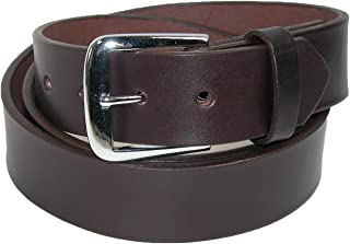 product image for Boston Leather Men's Big & Tall Leather 1 1/2 Inch Bridle Belt
