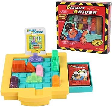 Humars Juego de lógica Juegos de Mesa Puzzler Juegos Ingenio Juegos IQ Aparcamiento Puzzle de Logica para Niños Adultos (Traffic Jam Puzzle): Amazon.es: Juguetes y juegos