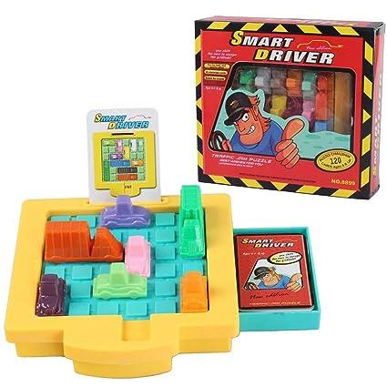 Humars Juego de lógica Juegos de Mesa Puzzler Juegos Ingenio juegos IQ Aparcamiento Puzzle de Logica para Niños Adultos (Traffic Jam Puzzle)