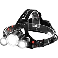 Rechargeable Headlamp 6000 Lumens LED Headlight Head Lamp Flashlight Motion Sensor IPX6 Rainproof Super Bright Outdoor…