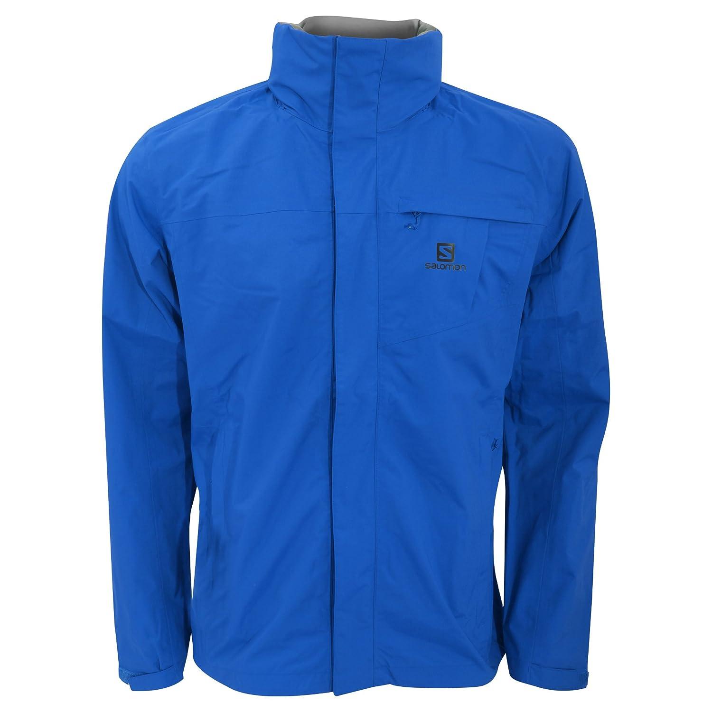 b6b49264b3fa Salomon Mens Elemental AD Hooded Waterproof Jacket (S) (Black)  Amazon.in   Clothing   Accessories