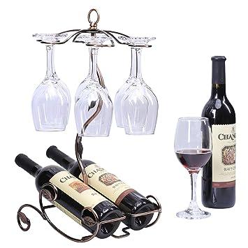 Amazoncom Sangyn Tabletop Freestanding Stackable Wine Glass Metal
