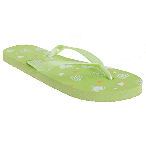 88fc849fa Floso Childrens Kids Big Girls Heart Print Flip Flops Beach Sandals (10-