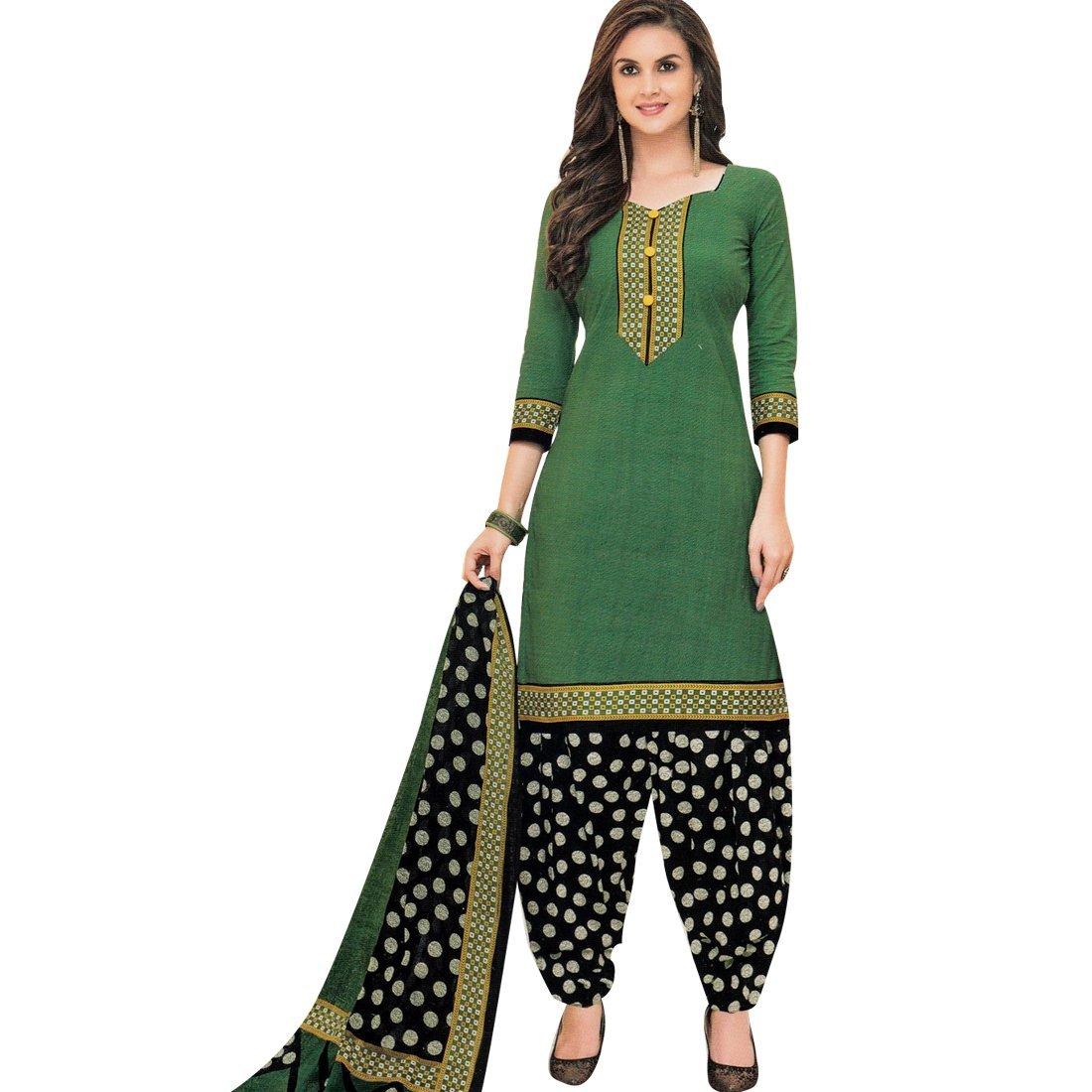 d752998e0c Amazon.com: Designer Printed Cotton Salwar Kameez Readymade Suit Indian  Dress: Clothing