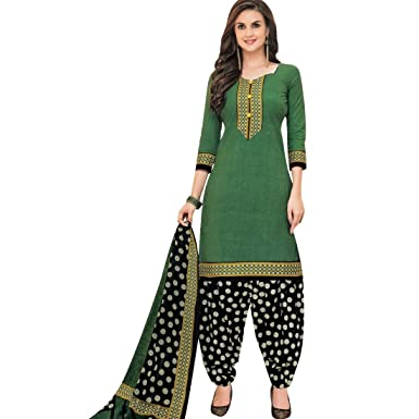 3f7539aa1a7 Amazon.com  Designer Printed Cotton Salwar Kameez Readymade Suit Indian  Dress  Clothing