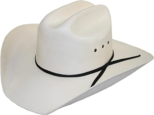 Straw Cowboy Hat Western Hats Classic Cattleman Mens Accessories Black White