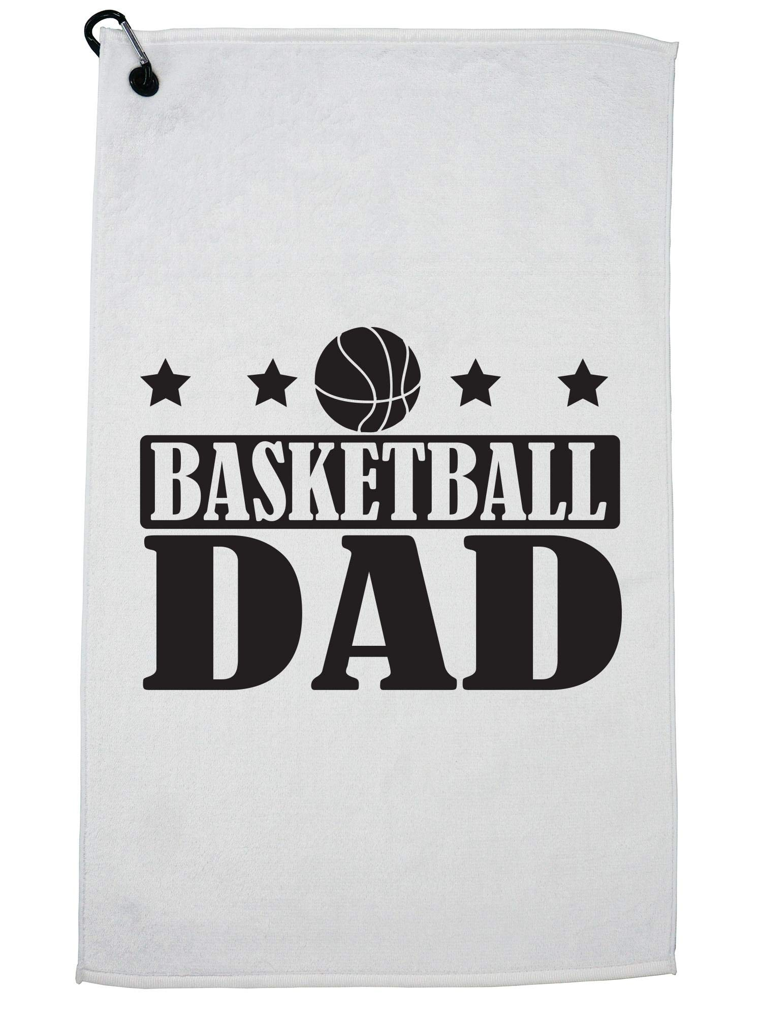 Hollywood Thread Basketball Dad Support Game Golf Towel with Carabiner Clip by Hollywood Thread