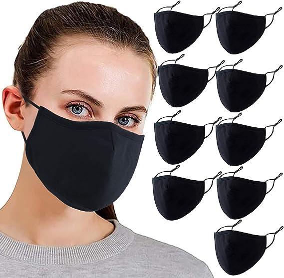 3Pcs Unisex Cotton Washable Breathable Women Men Face Reusable Bandanas Replaceable Outdoor Anti-Dust Balaclava E