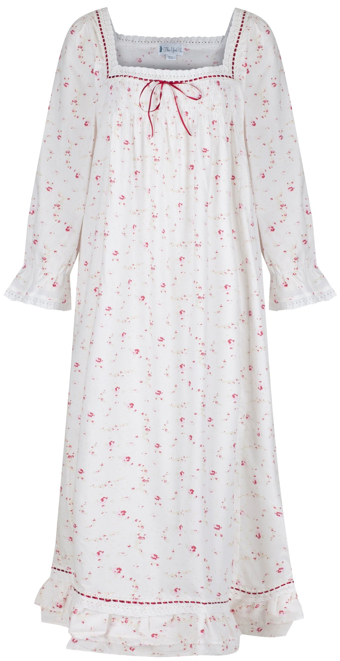 The 1 for U Martha Nightgown 100% Cotton Victorian Style - Sizes XS - 3X … (XXL, Vintage Rose)