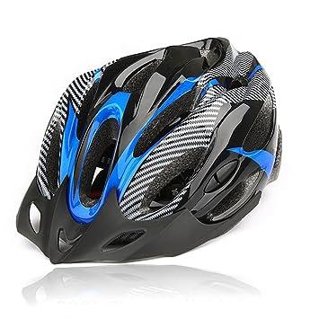 Weitengs Bicycle Capacete Mountain Bike Helmet Cycling Helmet Adult Black+blue