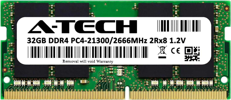 A-Tech 32GB DDR4 2666MHz RAM for Apple 2019 & 2020 iMac 27 inch (iMac19,1 iMac20,1 iMac20,2), 2018 Mac Mini | PC4-21300 SO-DIMM 260-Pin Memory Upgrade Module