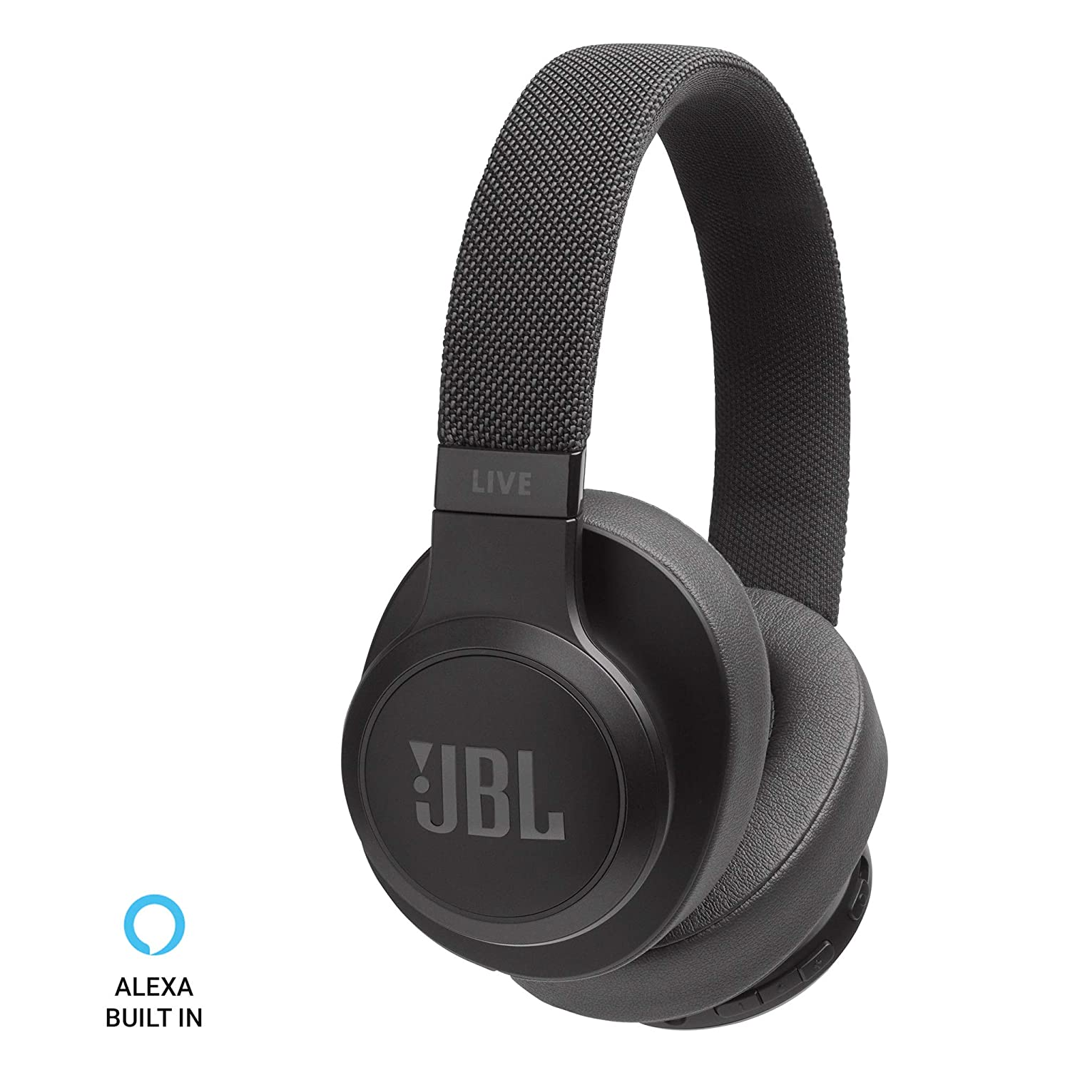 JBL Live 500BT Wireless Over-Ear Voice Enabled Headphones (Back)