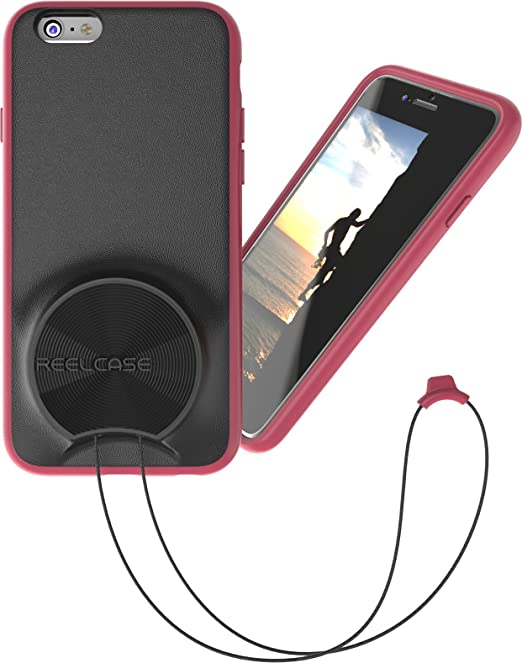 new arrival 39d57 d2113 ReelCase - iphone6 case with lanyard pink - retractable lanyard integrated  into protective case