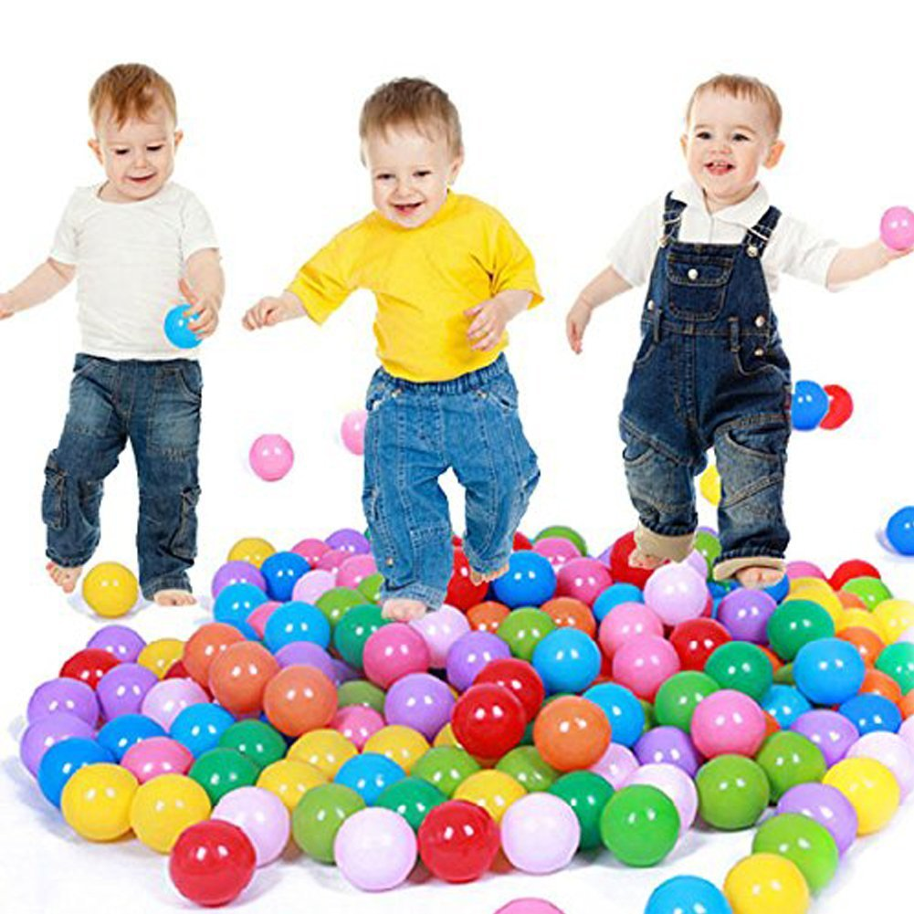 E Support100PCS Colorful Plastic Ball Pit Balls Baby Kids Tent Swim Toys Ball Pool Ball Ocean Ball by E Support   B01G8BW552