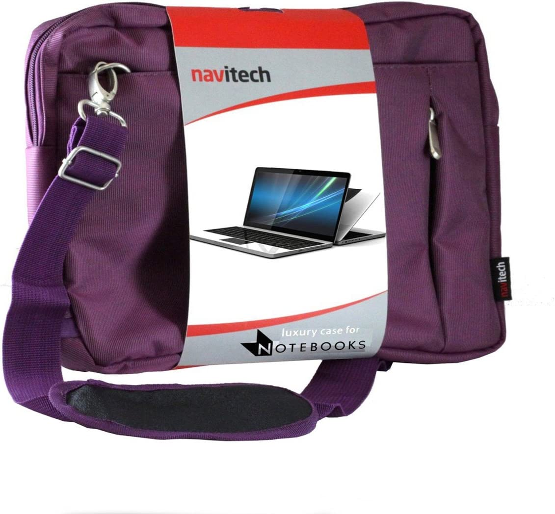 Navitech Purple Sleek Premium Water Resistant Shock Absorbent Carry Bag Case Compatible with The Acer Aspire R3-131T