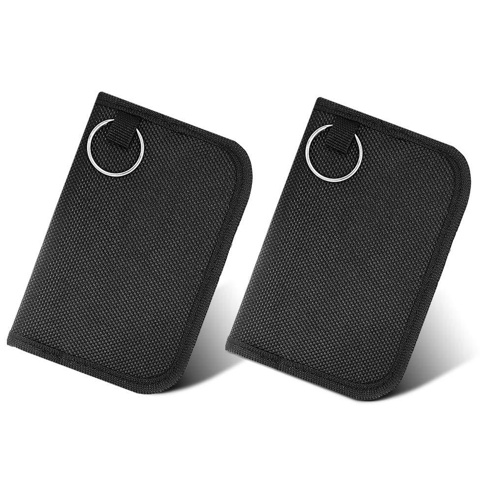 HongYu Ltd Anti-Theft Faraday Cage Fob RFID Signal Blocking Pouch Bag Shield Car Key 2pcs