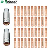 "Reboot Mig Contact Tips Consumables 42 PCS MIG Welding MB15 15AK Contact Tip 0.8/1.0mm 0.30"" MIG/MAG Welding Torch Consumable"