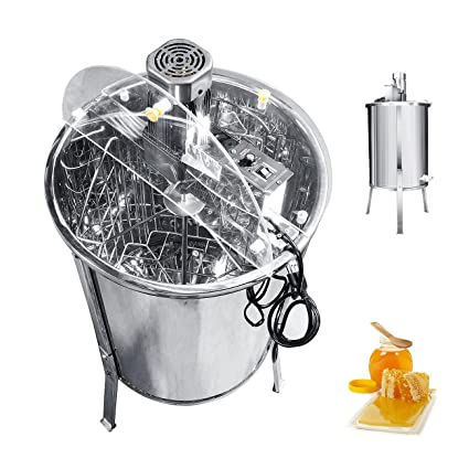 Business & Industrial Pro Electric 4/8 Frame Stainless Steel Honey Extractor Beekeeping Equipment Drum
