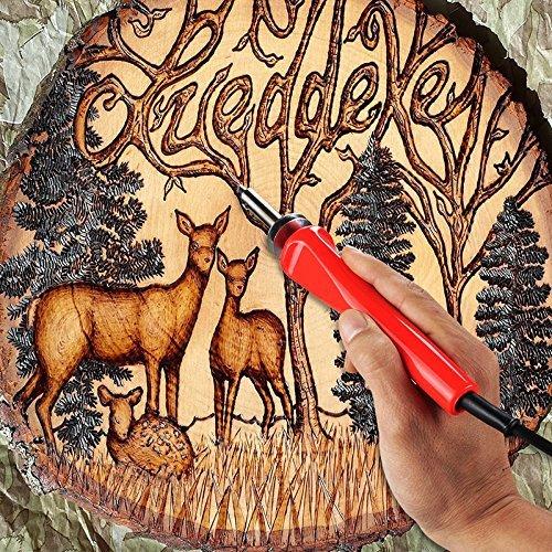 Carving 37Pcs 30W Micro Soldering Iron Pen Kit//wood Burning Hobbyists Kit//wood Engraving Pen for Burning Soldering with Carrying Case Embossing Teepao Wood Burning Kit
