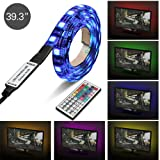 Amazon Price History for:Topist USB TV LED Light, RGB 5050 60 LEDs Neon Accent Lighting System Kit, Flexible Adhesive Tape Multi-Color Changing Light with 44 key IR Remote Controller for Flat Screen TV LCD, Desktop PC, 3.3Ft