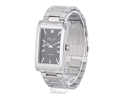 Amazon.com: Kenneth Cole New York Mens KC9284 Rock Out Black Dial Diamond Dial Analog Bracelet Watch: Kenneth Cole: Watches