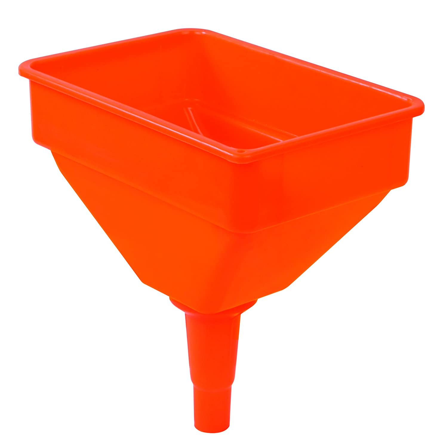 Extra Wide Mouth for Easy Pouring Filter Screen 41931 GROZ 1.2 Gallon Capacity High Flow Fuel /& Oil Funnel Heavy Duty