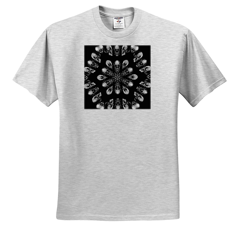 T-Shirts Kaleidoscope A Death Hex Skull Vector Art Kaleidoscope Skull Pattern 3dRose Taiche